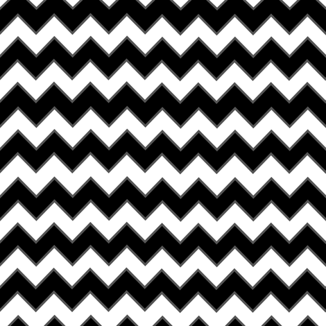 Chevron Pattern Black and White fabric by jannasalak on Spoonflower - custom fabric