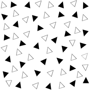 Triangle, black, white, geometric