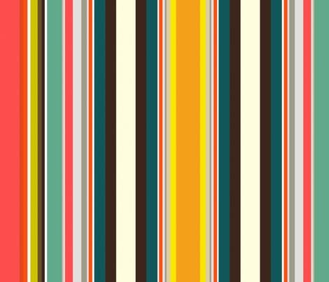 retro stripe fabric by scrummy on Spoonflower - custom fabric