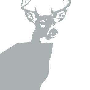 Large Buck Crib Sheet // Grey
