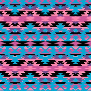 Navajo Tribal Print - pink/purple/blue