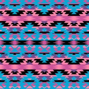 Navajo Tribal Print - pink/purple/blue