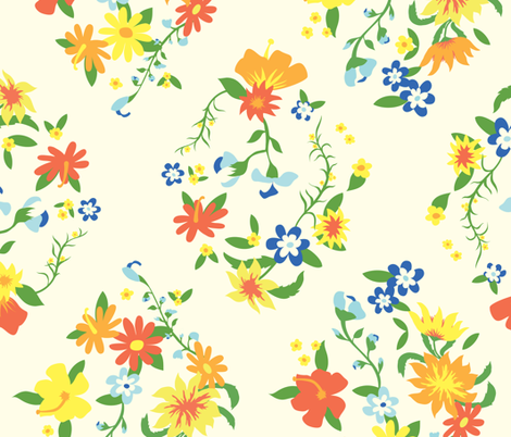 Aslan's Flowers fabric by taffyandtwine on Spoonflower - custom fabric