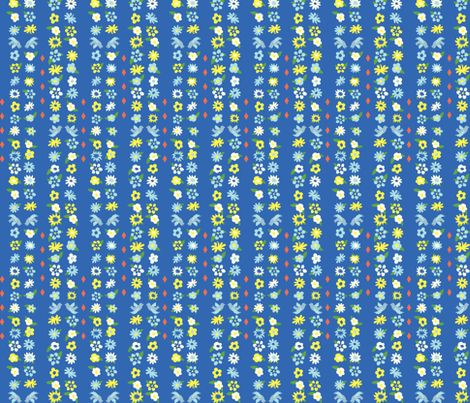 Lucy & Susan Daisy Chain fabric by taffyandtwine on Spoonflower - custom fabric