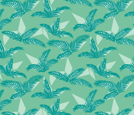 Folding Palms fabric by taffyandtwine on Spoonflower - custom fabric