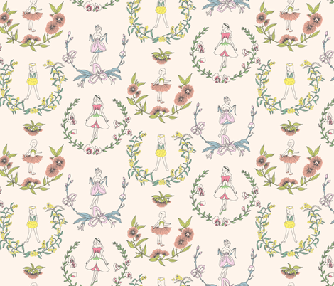 Flower Girls fabric by taffyandtwine on Spoonflower - custom fabric