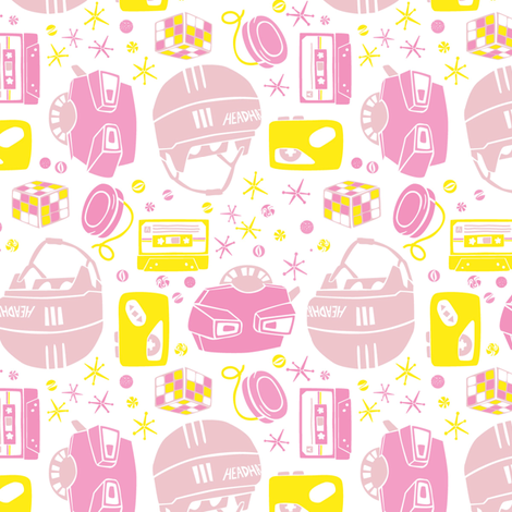Jacks + Stacks (Pink) fabric by taffyandtwine on Spoonflower - custom fabric