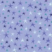 Stellar Stars (on Light Periwinkle)