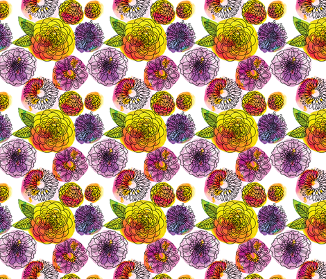 Ditzy flowers fabric by cynthiafrenette on Spoonflower - custom fabric