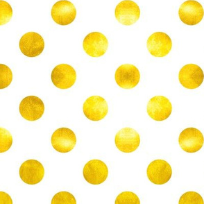 Polka Dots in Gold Sparkle