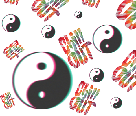 Chill Out Yin Yang Tumblr Tie Dye fabric by versacedreamer on Spoonflower - custom fabric