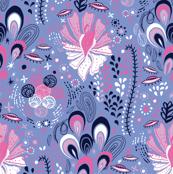 le jardin cosmique - coordinating tiles purple