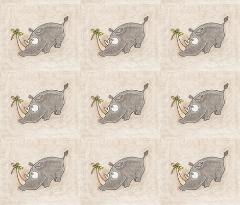 Rhino and Fizz fabric by natashagrace on Spoonflower - custom fabric