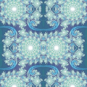 Blue-green Fractal Swirl
