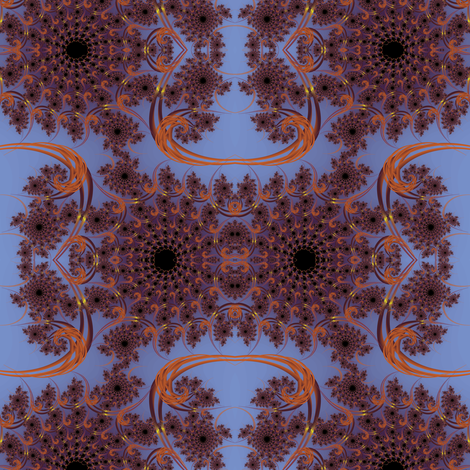 Twilight Rust Fractal Swirl