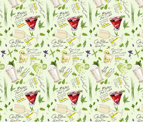 Herbalogie fabric by nadzrinhakim on Spoonflower - custom fabric