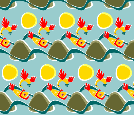Gone fishing... fabric by moirarae on Spoonflower - custom fabric