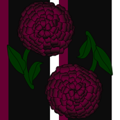 Victorian Burgundy Dahlia Fabric 7