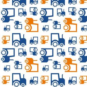 Tractors Navy+Orange