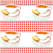 A Cup of Tea and Red Gingham