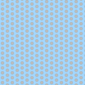 Medium Polka Dot - blue/grey