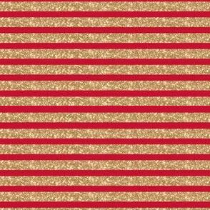 Sparkle Stripe Glitter on red! Christmas
