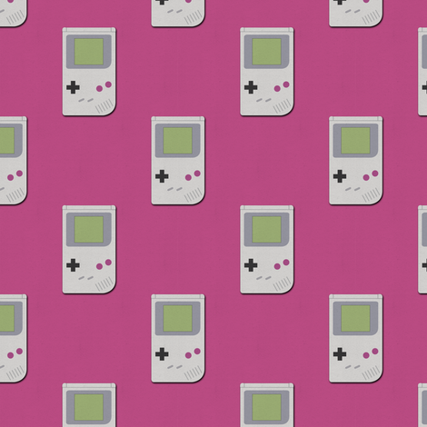 Paper Cut-Out Gameboys (Magenta)