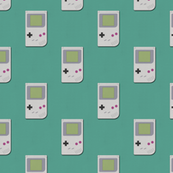 Paper Cut-Out Gameboys (Teal)