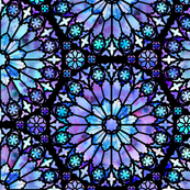 Painted Rose Windows (Blue and Purple)