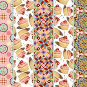 Pink Cupcake Folkloric Mandala Polka Dot