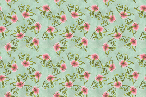Carnation_Allover_Repeat_2-03-01-01 fabric by cosecreative on Spoonflower - custom fabric