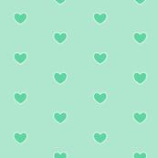 Lace Heart in Mint Tea