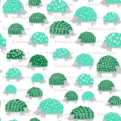 Hedgehogs - Light Jade/Kelly Green by Andrea Lauren