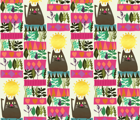 herb cat fabric by scrummy on Spoonflower - custom fabric
