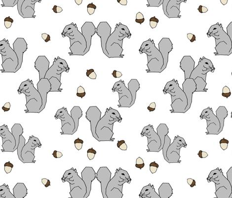 Squirrels - Slate Grey by Andrea Lauren