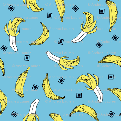 Bananas - Soft Blue/Canary by Andrea Lauren