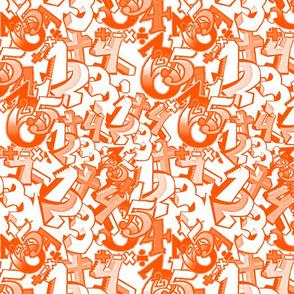 Rolling Numbers tangerine