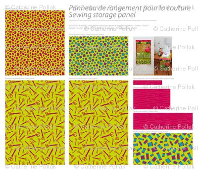 kit panneau couture - sewing storage kit