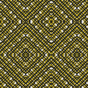 Squiggle Harlequin mustard