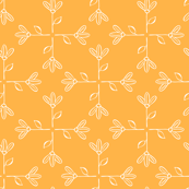 flowers mosaic orange