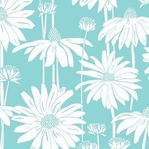 Sunshine Daisy Turquoise