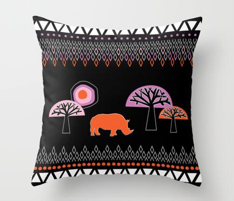 African Rhino (Warm Colors)