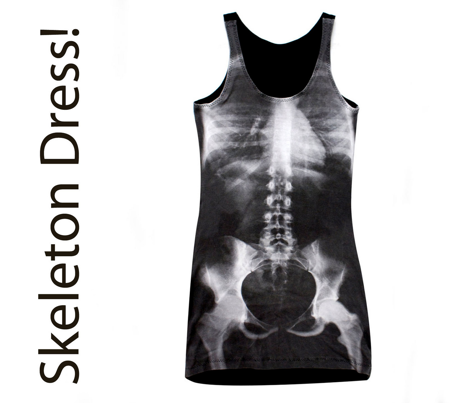 X Ray Skeletons Halloween Costume Fabric