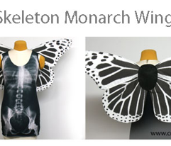 Medium Skeleton Butterfly Wings
