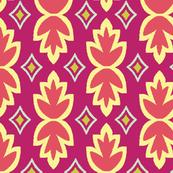 Bohemia-Leaves-Fuchsia & Coral