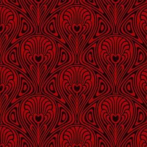 Nouveau Swirl red