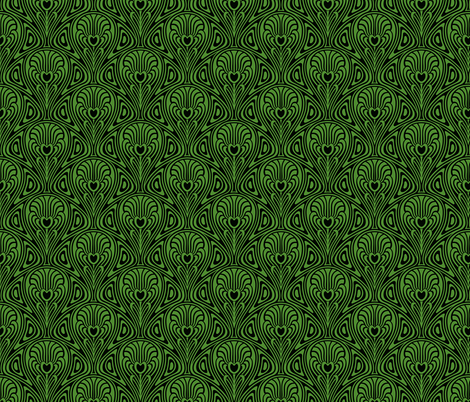 Nouveau in Green fabric by whimzwhirled on Spoonflower - custom fabric