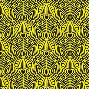 art nouveau black/yellow