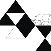 Geo Mod Rhino Black & White
