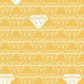 white line diamonds on mustard